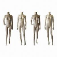 China Headless female mannequins with realistic posture, offered in 4 poses wholesale