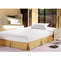 China Fashion Hotel Bed Skirts Light Yellow With 100% Polyester King Size wholesale