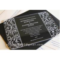 China acrylic invitation wholesale
