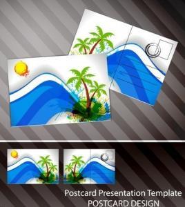 China Souvenir scenery lenticular 3D printing postcard 3D flip picture post card price wholesale