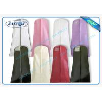 China Eco Friendly Non Wove Suit Cover , Suit Garment Bag Recyclable With Zipper wholesale