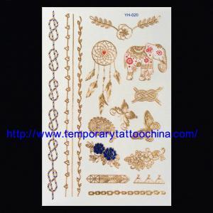 China Flash temporary tattoo gold silver tattoos wholesale