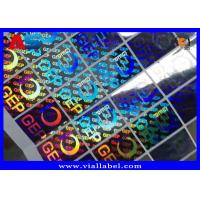 Buy cheap Small Hologram Sticker For Cardboard Storage Boxes With Holographic Serial from wholesalers