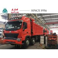 China 12 Wheeler Heavy Duty Dump Trailers , HOWO A7 Dump Truck With High Roof wholesale