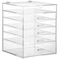 Quality Hot clear 6 drawer  perspex / acrylic makeup organizer for wholesale for sale