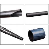 China Light Weight Custom Carbon Fiber Parts Tube 3K With Twill Plain Woven Fabric on sale