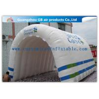 China Customizable White Inflatable Portable Spray Booth Tent Quadruple Sewing With Printing wholesale
