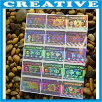 China CUSTOM PRINT SECURITY HOLOGRAM LABELS STICKERS on sale