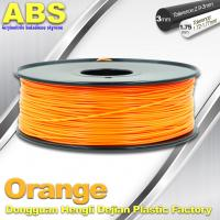 Quality Orange  3D Printing Materials 1.75mm ABS 3D Printer Filament In Roll for sale