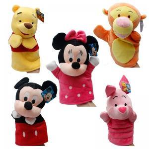 China Winnie Pooh Tigger Stitch Eyore Plush Finger Puppets Yellow Pink Blue on sale