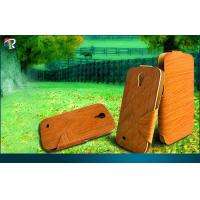China Wood Grain Samsung Galaxy Protective Cases Folio Hot Press Galaxy S4 on sale