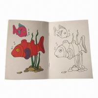 China Saddle Stitch Notebook/Coloring Book, Suitable for Children, Made of Paper, Eco-friendly on sale