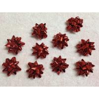 "China Professional Metallic and Holographic Mini Gift star bow 3 / 4"" diameter , 3mm width wholesale"
