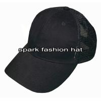 China Customize 6 panel plain cotton polyester truck cap wholesale