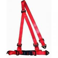 China Buckle Style Red Racing Safety Belts With Bolts / 3 Point Retractable Seat Belts wholesale