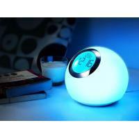 China Color change mood lamp with clock and alarm function on sale