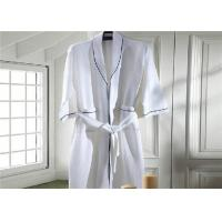 China Eco Friendly Waffle Hotel Towel Set / Kimono Collar Soft Cotton Bathrobe wholesale