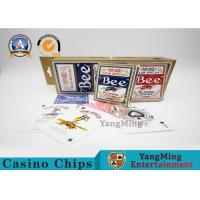 China Original American Poker Club 92 Bee Casino Playing Cards With UV Black Core Paper wholesale