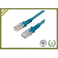 China Exquisite Fashion Flat Cat5e Ethernet Patch Cable With Blue Special Connector wholesale