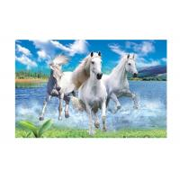 China Runnig Horse 3D Lenticular Pictures For House Decorative 0.6mmPET wholesale
