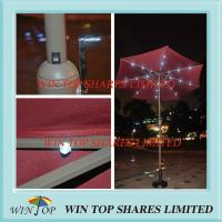 China 2.7m Garden LED Market Umbrella for Outdoor Use wholesale