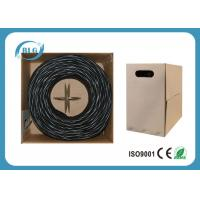 PVC Cat5e Outdoor Waterproof Ethernet Cable 1000FT / 305M Indoor Ethernet Data Transmission