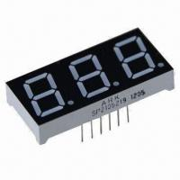 China 7-Segment LED Numeric Display, 0.52 Inch, 3 Digits, for Multifunction Air-conditioner Controller wholesale
