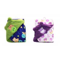 China Thickening Double side printed soft polar fleece baby knitted blanket ,Multi-function embroidery ,  100%polyeste wholesale