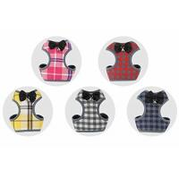 China Pet Dog Cat Plaid Bowtie Harness Vest Escape-proof XS Harnesses for Puppy & Kitten on sale