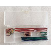 China U Shaped Wire Cable Box Breadboard And Wire Kit 140 Pcs / Set Breadboard Jumper Kit wholesale