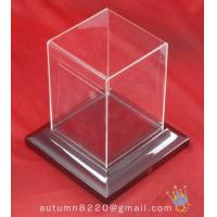 China BO (156) acrylic display case with wood base wholesale