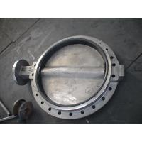 China Large Double Flanged Butterfly Valve / Water Butterfly Control Valve wholesale