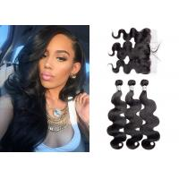 China Smooth Brazilian Bundles With Frontal , Grade 8A Body Wave Bundles With Frontal wholesale