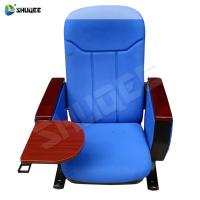 China Advanced Blue Auditorium Chair With Writing Pad for Cinema, Theater, Office, Church wholesale