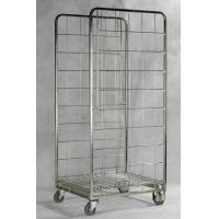 China Zinc Galvanized Foldable Storage Trolley / Roll Cage Container 717 * 823 * 1715 Mm wholesale