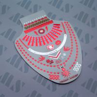 China 2015 Cheering  Metallic Red Rosy Glowing Jewelry Necklace Temporary Tattoos wholesale
