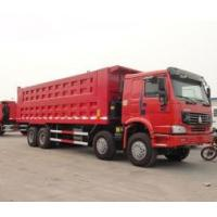 China 8x4 powerful engine 50 tons heavy duty dump truck 266h-375ph with flat roof cabin wholesale