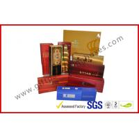 China Rectangle Handmade Rigid Board Cigar Gift Boxes , Custom 157g Coated Paper E Cigar Packages wholesale