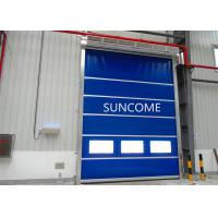Quality 3 Phrase Exterior High Speed Roll Up Door AC 220V - 240V Colorful Plastic Curtain for sale