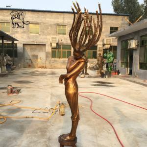 China Bronze Lady Water Fountain brass dancer Sculpture Garden Fairy Fountains wholesale