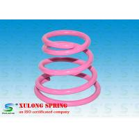 China High Strength Special Cone Shaped Springs Pink Powder Coated For Damping on sale