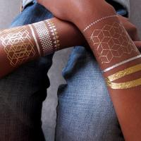 China Sexy Jewerly Necklace Gold and Silver Temporary Tattoos for Body Art wholesale