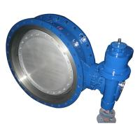 China bare stem Double Three Eccentric Flanged Metal Seat Butterfly Valve of bkvalve on sale