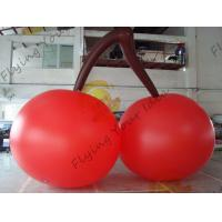China Red PVC 3m High Cherry Shaped Balloons For Trade Fair Display wholesale