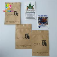 China Kraft Paper Weed Bags Foil Pouch Packaging Ziplock Aluminum Foil For 1/4 Gram Powder wholesale