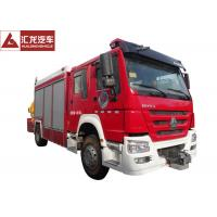 China 1300 Gallons Water Tower Fire Truck , Fire Service Truck 500 Gallons Foam Cost Effective on sale