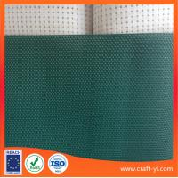 China dark green textilene mesh fabric pvc coated material easy clean and dry fabric in 2X1 woven wholesale