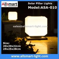 Buy cheap Squared Virginal Lily White Solar Pillar Lights Solar Chapiter Lamp Column Fence from wholesalers
