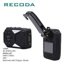 China 4G/WIFI Police Wearing Body Cameras GPS 1440P HD 10 Hours Battery Fire Proof IP67 wholesale