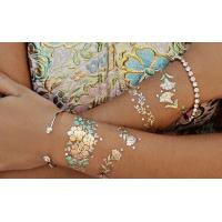 China Temporary Metallic Tattoo Sticker Fashionable Gold Sliver For Adults wholesale